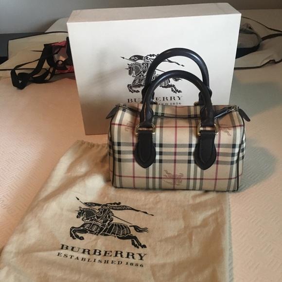 e5dc8672e6 Burberry Handbags - Burberry Haymarket Check Bowling Bag